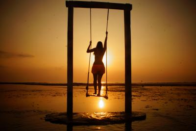 Swing in the Sunset of Gili Islands