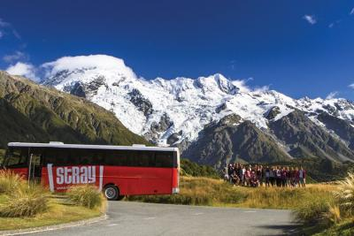 Bus station in Mt Cook