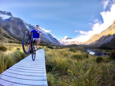 Biking in Mt Cook