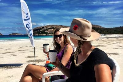 Coffee on Lucky Bay